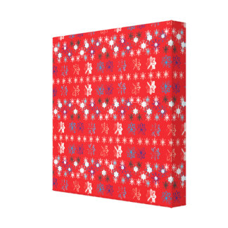 Snowflakes pattern IV Gallery Wrapped Canvas