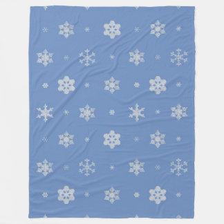 Snowflakes Pattern Large Fleece Blanket