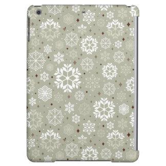 Snowflakes Pattern on Pastel