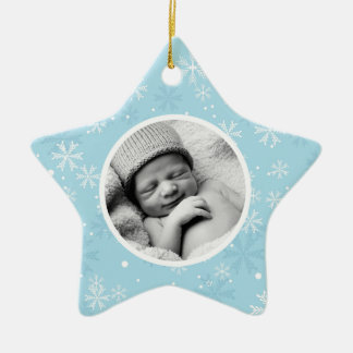 Snowflakes Pattern Photo Christmas Christmas Ornament