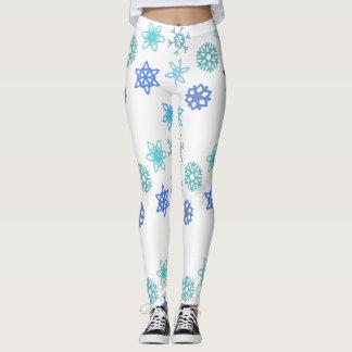 Snowflakes Pattern Winter Themed Women's Leggings