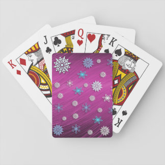 Snowflakes playing card