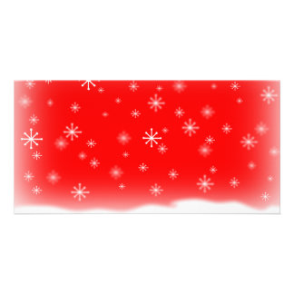 SNOWFLAKES RED CARD
