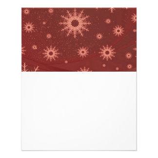snowflakes red 11.5 cm x 14 cm flyer