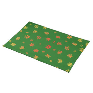 Snowflakes (Red & Gold) Placemat
