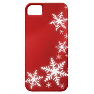 Snowflakes Red Holiday iPhone5 cover