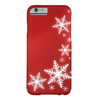 Snowflakes Red Holiday iPhone 6 case cover