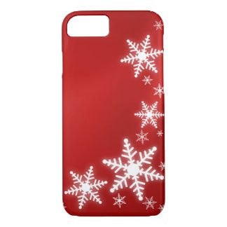 Snowflakes Red Holiday iPhone 8/7 Case