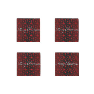 Snowflakes – Red Stone Magnet