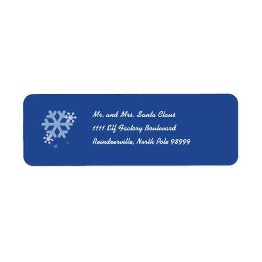 Snowflakes Return Address Label - Blue
