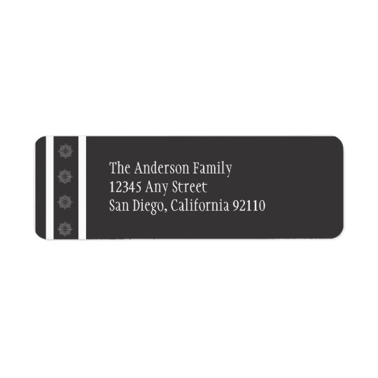 Snowflakes Return Address Labels