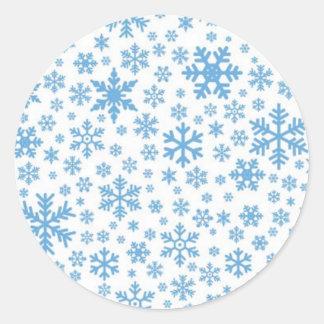 Snowflakes Round Sticker