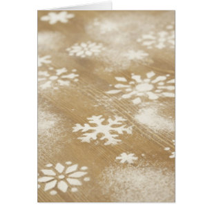 Christmas with company name cards invitations zazzle snowflakes rustic business blank holiday christmas card reheart Choice Image