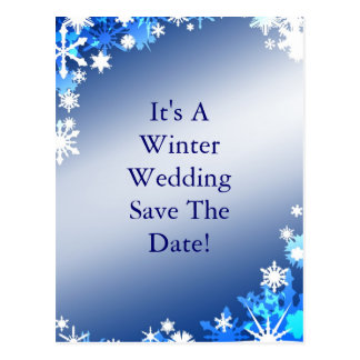 Snowflakes Save the Date Postcard