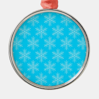Snowflakes Silver-Colored Round Decoration