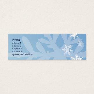 Snowflakes - Skinny Mini Business Card
