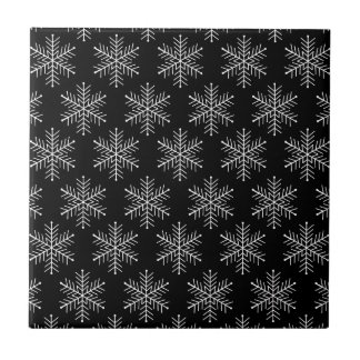 Snowflakes Small Square Tile