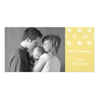 Snowflakes & Snow Christmas Photocard (Gold) Picture Card