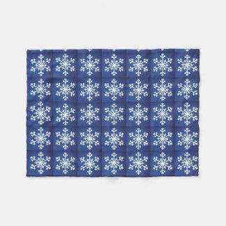 Snowflakes Snowflake Blue Fleece Blanket
