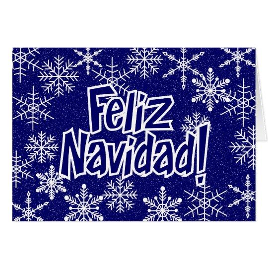 Snowflakes - spanish card