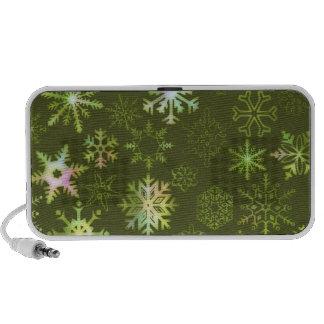Snowflakes Laptop Speakers
