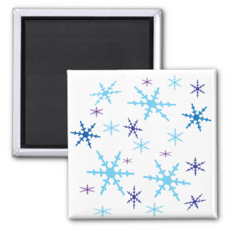 Snowflakes Square Magnet