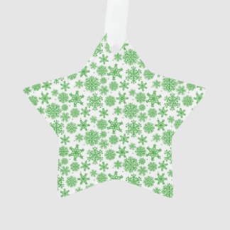 Snowflakes Star Ornament