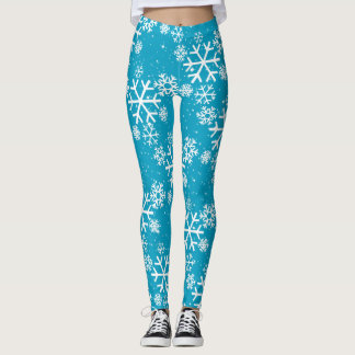 Snowflakes & Stars on (your color) Leggings