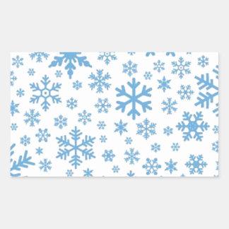 Snowflakes Rectangular Sticker