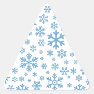 Snowflakes Triangle Sticker