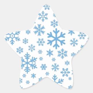 Snowflakes Star Sticker