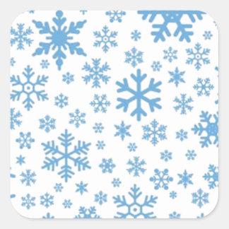 Snowflakes Square Sticker