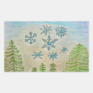 snowflakes stickers