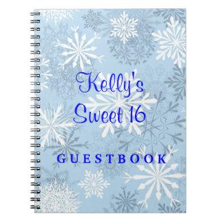 Snowflakes Sweet 16 Wonderland Guest Book