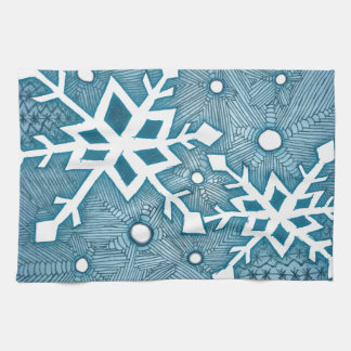 Snowflakes Tea Towel