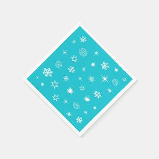 Snowflakes theme paper serviettes