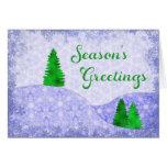 Snowflakes & Trees Kaleidoscope Design Christmas