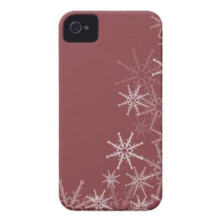 Snowflakes Trim iPhone 4 Case-Mate Case