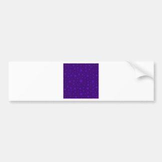 Snowflakes – Violet on Dark Violet Bumper Sticker