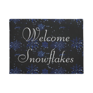 Snowflakes Welcome Mat