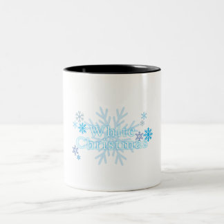 Snowflakes White Christmas Bag Mug Keychain Button