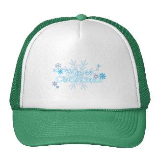 Snowflakes White Christmas Bag Mug Keychain Button Trucker Hats