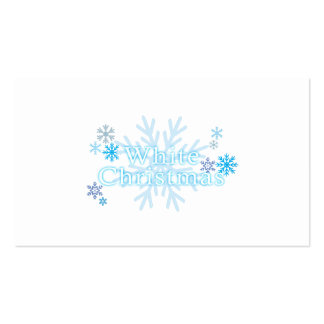 Snowflakes White Christmas Invitation Stamp Labels Business Card Template