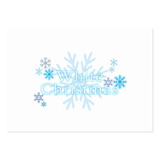 Snowflakes White Christmas Invitation Stamp Labels Business Card Templates