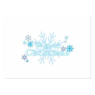 Snowflakes White Christmas Invitation Stamp Labels Business Cards