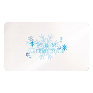 Snowflakes White Christmas Invitation Stamp Labels Business Card