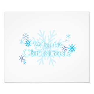 Snowflakes White Christmas Invitation Stamp Labels Photographic Print