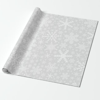 Snowflakes | White & Grey Wrapping Paper
