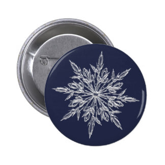 Snowflakes: winter is coming 6 cm round badge