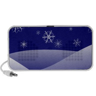 Snowflakes winter portable speaker